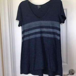 Left of Center by Anthropologie Navy Swing Tee